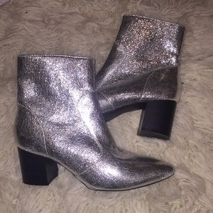 Shoes - NEW Silver Ankle Booties